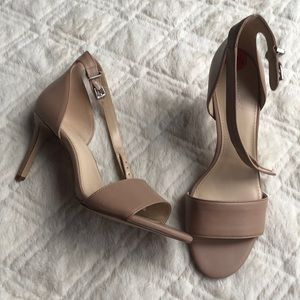 New women's Nine West tan beige heels wnizzy3 9.5